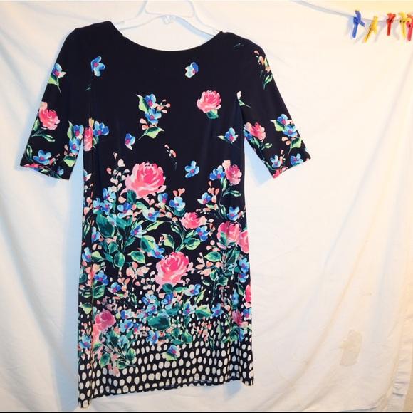 Eliza J. Black Floral dress